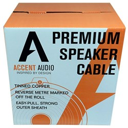16 gauge 4 core Tinned Copper Speaker cable, 150mtr spool Accent Audio