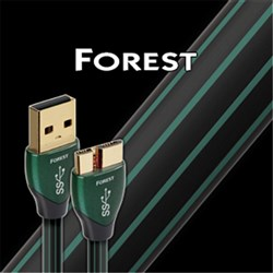 Forest 0.75m USB3.0a - USB3.0 Micro 0.5% Silver Black & Green PVC AudioQuest