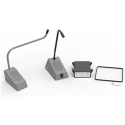Curved Microphone Speech system - Grey RH-Kit