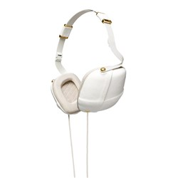 Pleat Headphones Napa White and Gold Molami