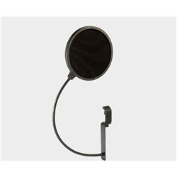 Pop filter flexible gooseneck with 100mm extension clamp