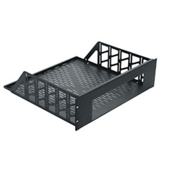 RSH Custom Rack Shelf Black Brushed & Anodized Middle Atlantic