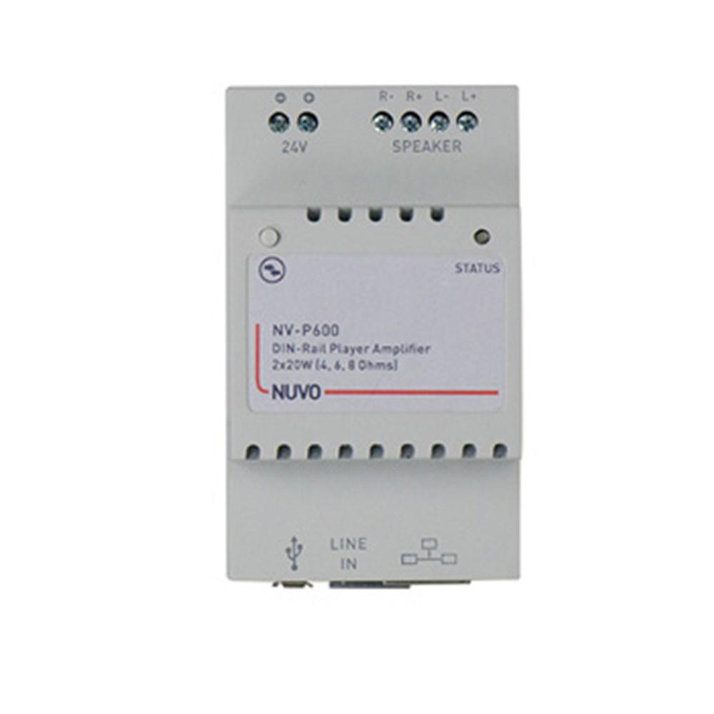 P600 DIN RAIL Player 2 x 20 Watt Single Zone Player Nuvo