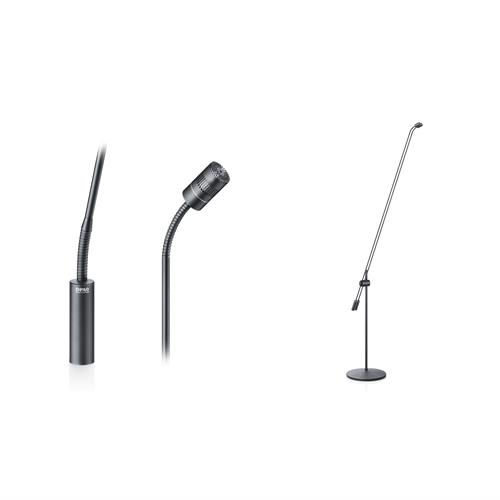 DAp d:dicate™4011FGT Cardioid Microphone, Twin 120 cm Boom, Floor Stand