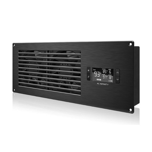 Airframe T7 Black INTAKE +PP Smart In Cupboard Cooler AC Infinity