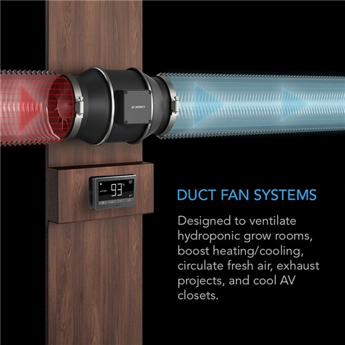 6 INCH In-Line Duct Fan System With smart controler + Power/P AC Inifinity