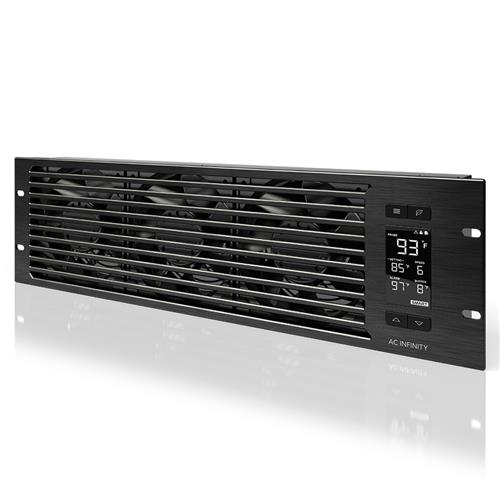 AC Infinity Cloudplate T9 Pro quiet rack cooling system, 3U, exhaust