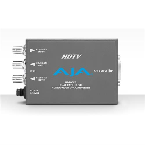 D/A, HD/SD, SDI to HD/SD YPbPr /CV  4-Ch embedded audio to XLR analog