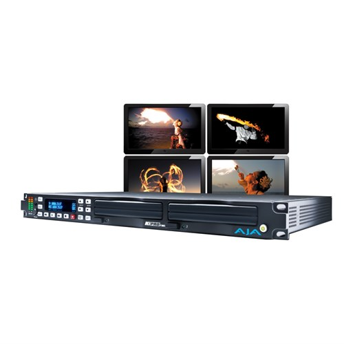 Rackmount file based recorder/ player, with ProRes 422 and DNxHD AJA