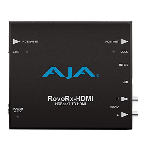HDBaseT to HDMI w/poH power/contol/display/interface to RovoCam AJA