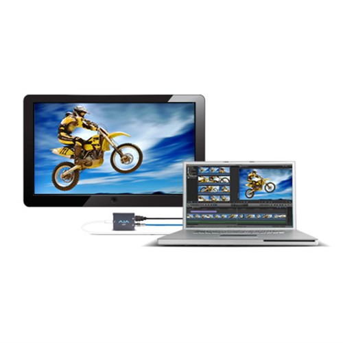 10-bit HD/SD SDI + HDMI output w/ embedded audio. (No Thunderbolt cable)