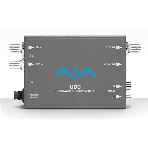 3G-SDI up, down, cross-conversion, 2-Ch unbalanced audio output