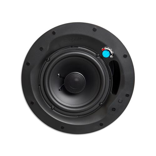 "6.5"" two-way design ceiling speaker 100-70 volt / 20 watts back can"