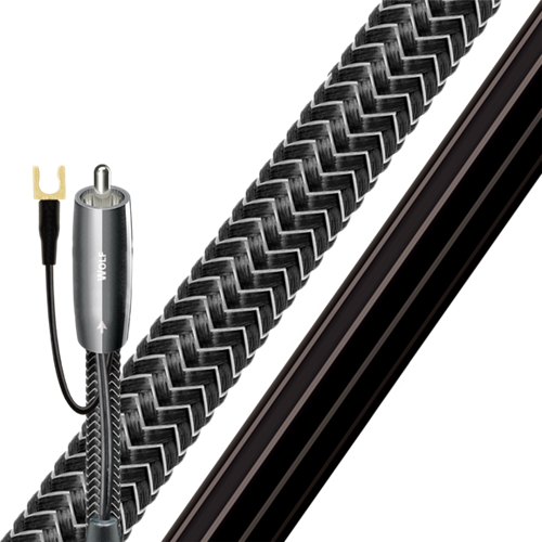 Wolf Subwoofer Cable 3m RCA-RCA 10% Silver Braided AUdioQuest