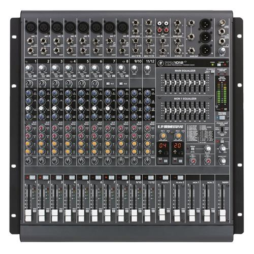 12-channel Powered Desktop Mixer w/ Effects (1600W)