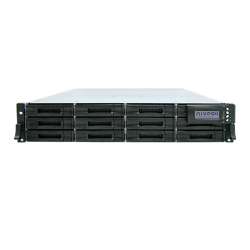 NNAS-R12 Network Attached Storage 12 bay hot swappable SATAII 19in Rackmount Niveo