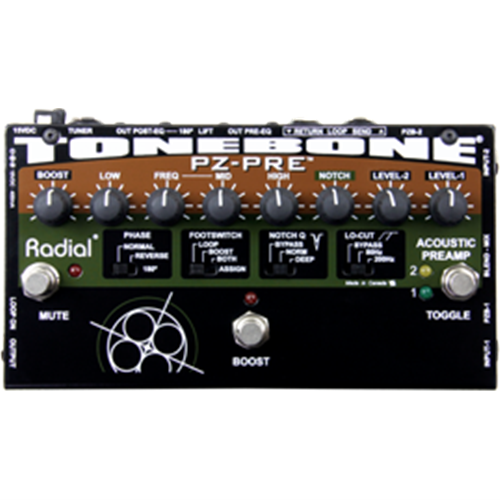 Radial PZ-PRE - Acoustic Instrument Preamp