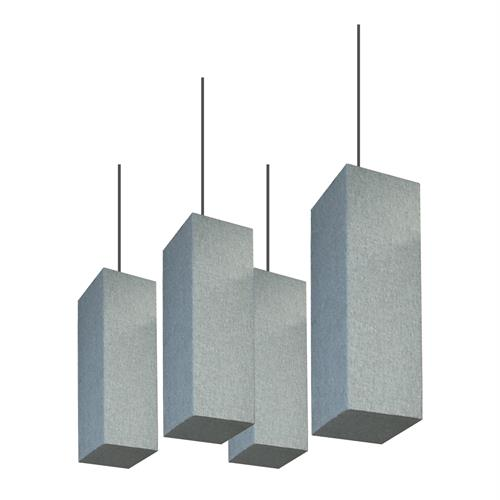 "Lantern Baffle 24""x8"", square 4 pieces Gray"