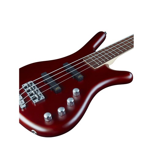 RockBass Corvette Basic 4-String Burgundy Red Transparent Satin