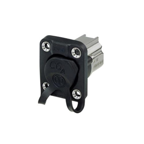 D-SIZE PANEL RECEPTACLE, SHIELDED, IDC TERMINATION, WITH RUBBER SEALING, IP65