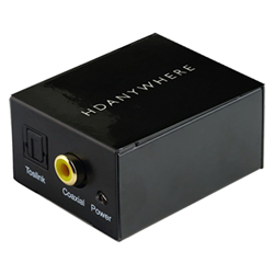 DAC - TOSLINK and Coax inputs RCA outputs HDANYWHERE