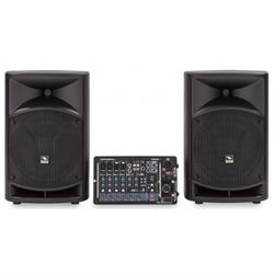 "PROEL PORTABLE PA SYSTEM - 10"" 2x250W Class D, 8-Channel Mixer"