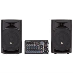 "PROEL PORTABLE PA SYSTEM - 8"" 2x250W Class D, 8-Channel Mixer"