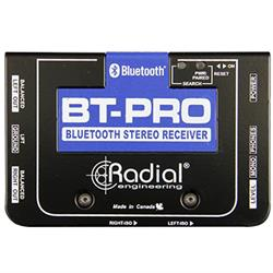 BT-PRO. BlueTooth wireless receiver with balanced stereo DI outputs