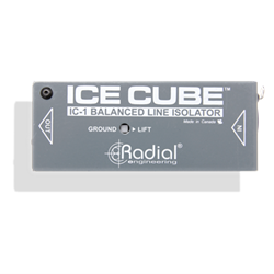 RADIAL ICE CUBE - Single Channel Line Isolator and Hum Eliminator