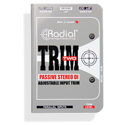 RADIAL TRIM-TWO - Passive Stereo 2 Channel DI with Level Trim