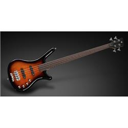 RockBass Corvette Classic 4-String Almond Sunburst Transparent High Polish