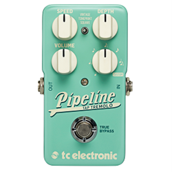 PIPELINE. Tap Tempo Tremolo with Sequencer, Subdivisions & TonePrints. Vintage Tremolo.
