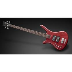 Warwick TeamBuilt Pro Series Corvette $$ 4-String Burgundy Red Transparent Satin Lefthand