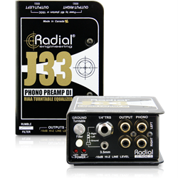 RADIAL J33 - RIAA Turntable Preamp