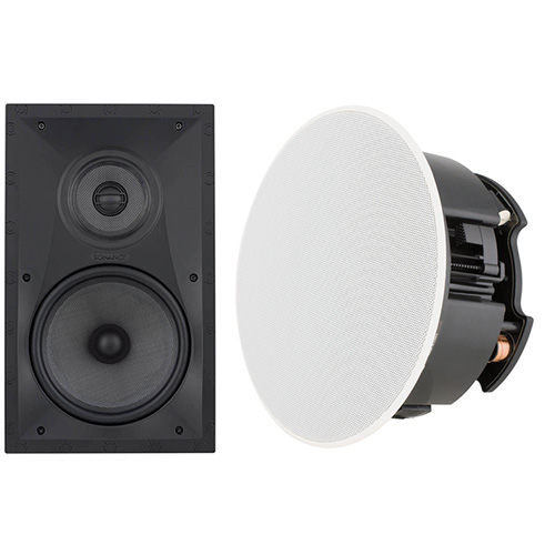 Ceiling and in-wall speakers