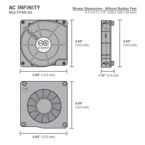 Multifan S2 Spot cooler 140mm blower AC Infinity
