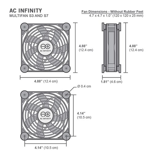 Multifan S3 Spot cooler 120mm blower AC Infinity