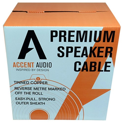 16 gauge 2 core Tinned Copper Speaker cable, 300mtr spool Accent Audio