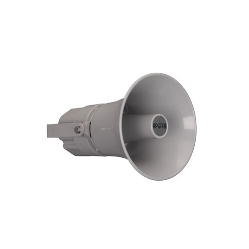 Horn speaker HM25, aluminium 100V/25W, grey, IP66 aluminium body and bracket