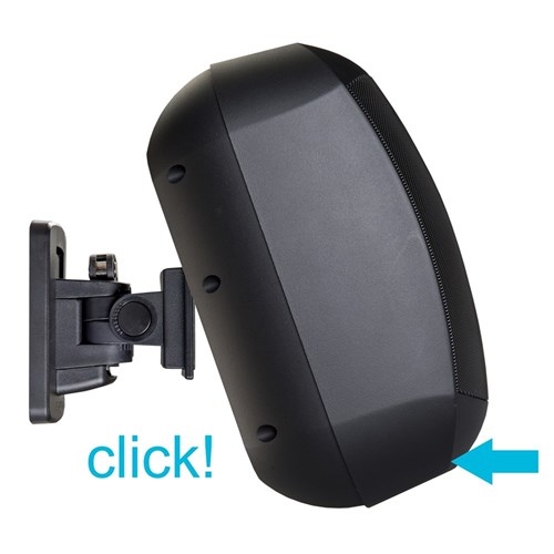 "4.25"" small  two-way speaker  loudspeaker, 8 ohms / 70 watt CLICKMOUNT bracket, MASK4C-BL"