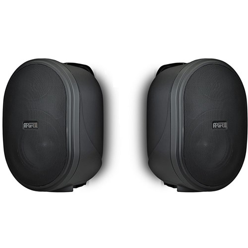 "5.25"" two-way speaker PAIR 100V/30W, 16ohm/80W, black inc bracket, OVO5T-BLPR"