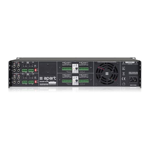 Power amp, four channel, 2RU 4 x 120W/100V, bridgeable convection cooled ,REVAMP4120T