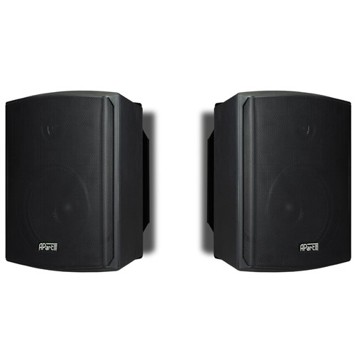 "5.25"" active two-way spkr PAIR 2 x 30W, black, inc bracket SDQ5p-BLPR"