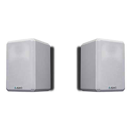 "4"" two-way HiFi speaker PAIR 16ohm/120W, gloss white VINCI416-WPR"