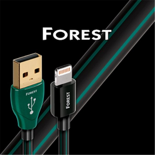 Forest USB to Lightning 1.5m 0.5% Silver Black/Green PVC Audioquest