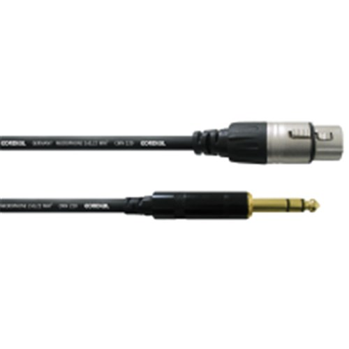 1.5m Female XLR to Stereo Jack