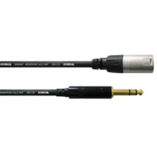 1.5m XLR MALE / to STEREO 6.3