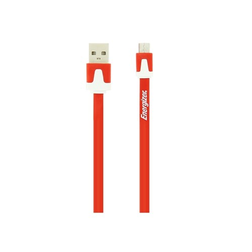 Data & Charge USB cable FLAT (Red) 1m Micro USB HiTech Energizer