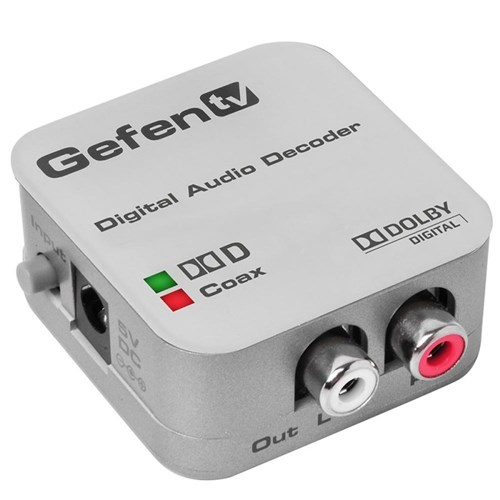 Gefen TV Digital to Analog Decoder Coaxial//Optical Digital Audio Converter NEW