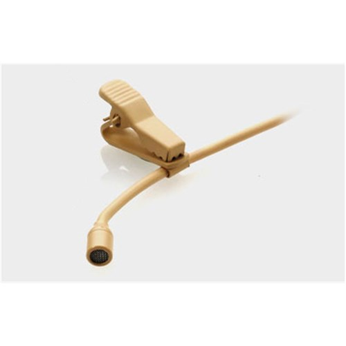 Miniature lapel mic - beige with 4-pin mini-XLR